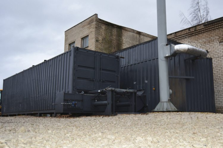 Biomass boiler house